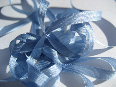 YLI Silk Ribbon, 4mm — 126 (medium blue)