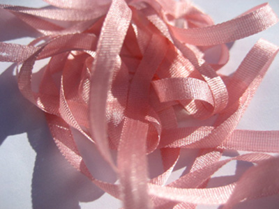 YLI Silk Ribbon, 7mm — 127 (petal pink)