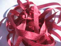 YLI Silk Ribbon, 4mm — 129 (oxblood)
