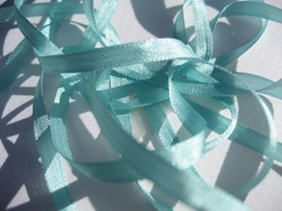 YLI Silk Ribbon, 2mm — 132 (light teal)