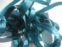 YLI Silk Ribbon, 4mm — 134 (dark teal)