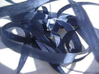 YLI Silk Ribbon, 4mm — 138 (black navy)