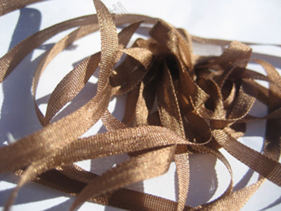 YLI Silk Ribbon, 2mm — 140 (mocha)