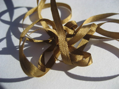 YLI Silk Ribbon, 4mm — 143 (green brown)