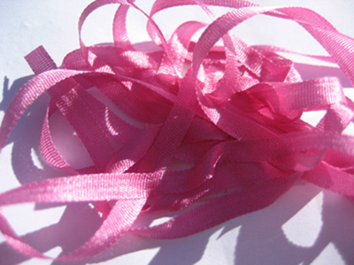 YLI Silk Ribbon, 4mm — 145 (raspberry)_MAIN