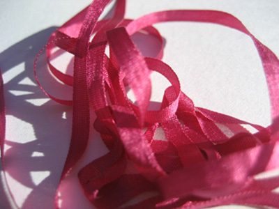 YLI Silk Ribbon, 4mm — 146 (fuchsia)_MAIN