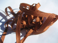 YLI Silk Ribbon, 4mm — 150 (brown rust)