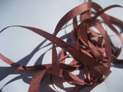 YLI Silk Ribbon, 4mm — 159 (deep rose)