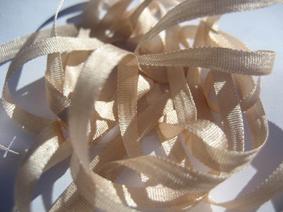 YLI Silk Ribbon, 4mm — 160 (beige pink)