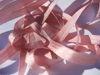 YLI Silk Ribbon, 4mm — 163 (rose)