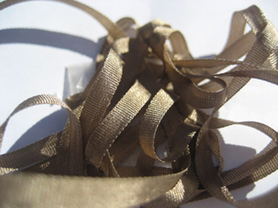YLI Silk Ribbon, 4mm — 165 (taupe)