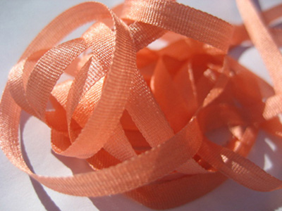 YLI Silk Ribbon, 4mm — 168 (dark peach)