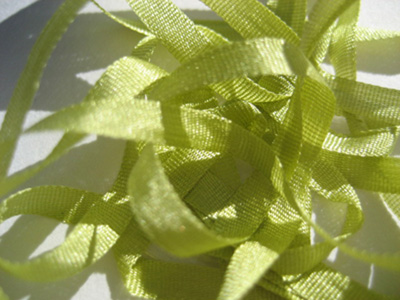 YLI Silk Ribbon, 4mm — 170 (light olive green)
