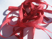 YLI Silk Ribbon, 4mm — 175 (crimson)