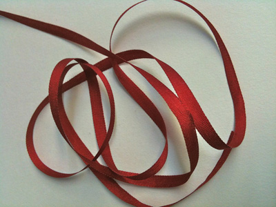 YLI Silk Ribbon, 4mm — 176 (burgundy red)