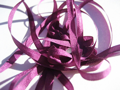 YLI Silk Ribbon, 4mm — 177 (plum)