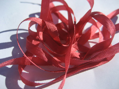 YLI Silk Ribbon, 4mm — 181 (blush wine)