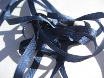 YLI Silk Ribbon, 4mm — 184 (dark slate)