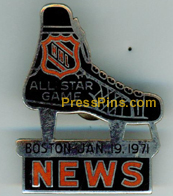 1971 NHL All-Star Press Pin MAIN