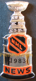 1983 NHL Stanley Cup Press Pin MAIN