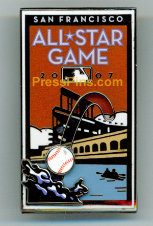 2007 San Francisco All Star Press Pin MAIN