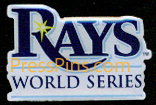 2008 Tampa Bay Rays World Series Press Pin MAIN