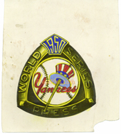 1950 Yankees Original Press Pin Artwork