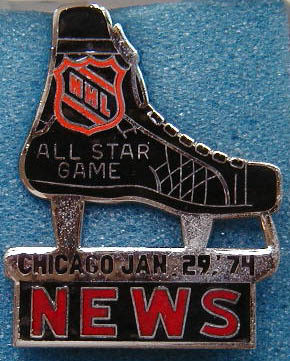 1974 NHL All-Star press pin