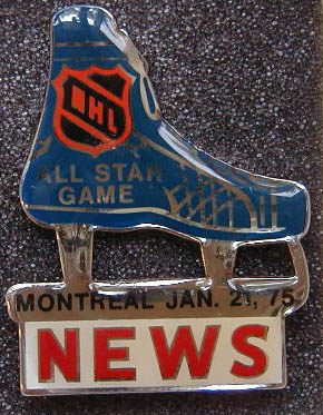 1975 NHL All-Star press pin