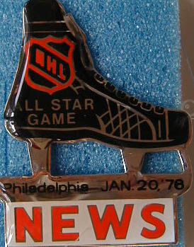 1976 NHL All-Star press pin (Philadelphia)