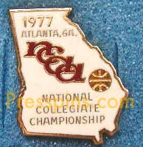 1977 NCAA Final Four Press Pin (Atlanta) MAIN