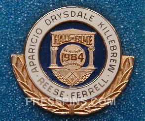 1984 Hall of Fame Press Pin