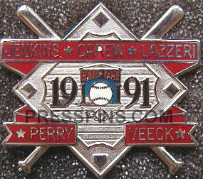 1991 Hall of Fame Press Pin