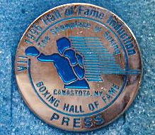 1996 Boxing Hall of Fame Press Pin