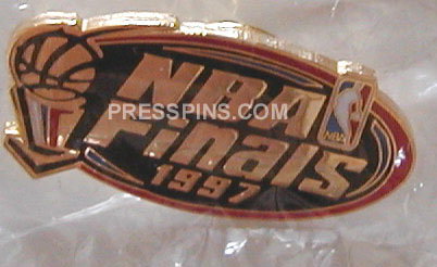 1997 NBA Finals Press Pin