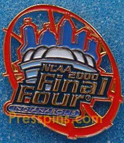 2000 NCAA Final Four Press Pin (Indianapolis) MAIN
