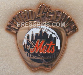 2000 New York Mets World Series Press Pin