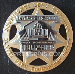 2001 Pro Football HOF Player Pin