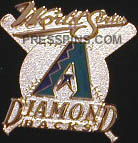 2001 Arizona Diamondbacks World Series Press Pin MAIN