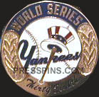 2001 New York Yankees World Series Press Pin