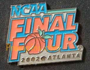 2002 NCAA Final Four Press Pin (Atlanta)