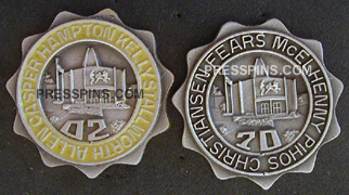 1970/2002 Pro Football Hall of Fame Press Pins