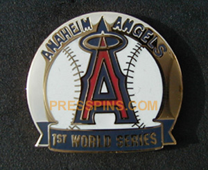 2002 Anaheim Angels World Series Press Pin MAIN