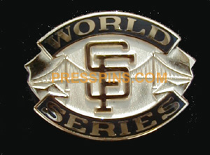 2002 San Francisco Giants World Series Press Pin