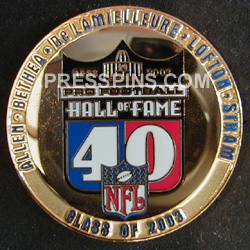 2003 Pro Football HOF Player Pin