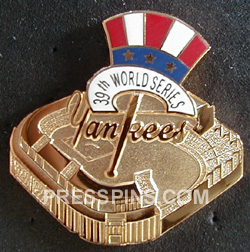 2003 New York Yankees World Series Press Pin MAIN
