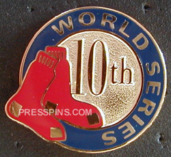 2004 Boston Red Sox World Series Press Pin