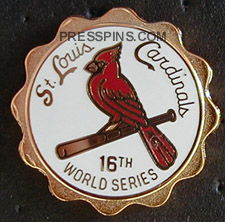 2004 St. Louis Cardinals World Series Press Pin
