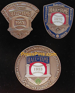 2004 Retroactive Hall of Fame Press Pins MAIN