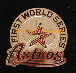 2005 Houston Astros World Series Press Pin